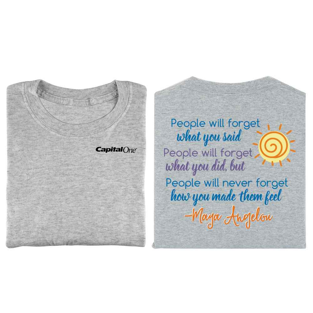 Maya Angelou Quote 2-Sided T-Shirt - Personalization Available