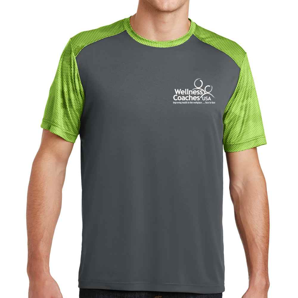 Sport-Tek® Men's CamoHex Colorblock Tee - Personalization Available