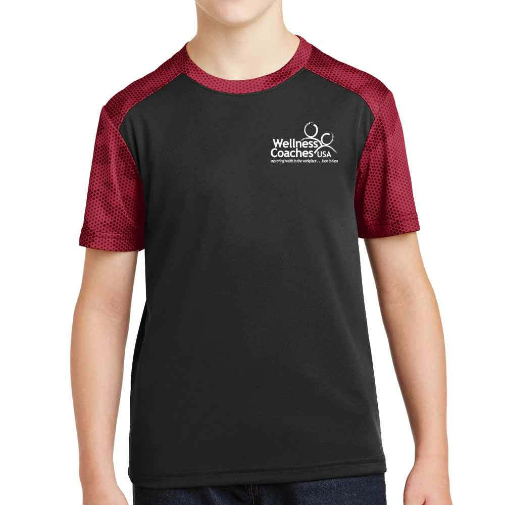 Sport-Tek® Youth CamoHex Colorblock Tee - Personalization Available