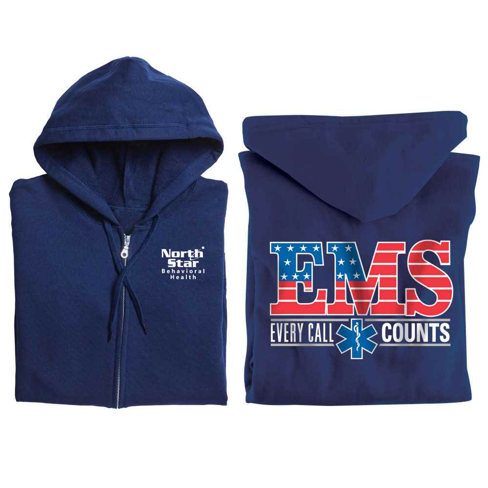 EMS: Every Call Counts Gildan® Full-Zip Hooded Sweatshirt - Personalized