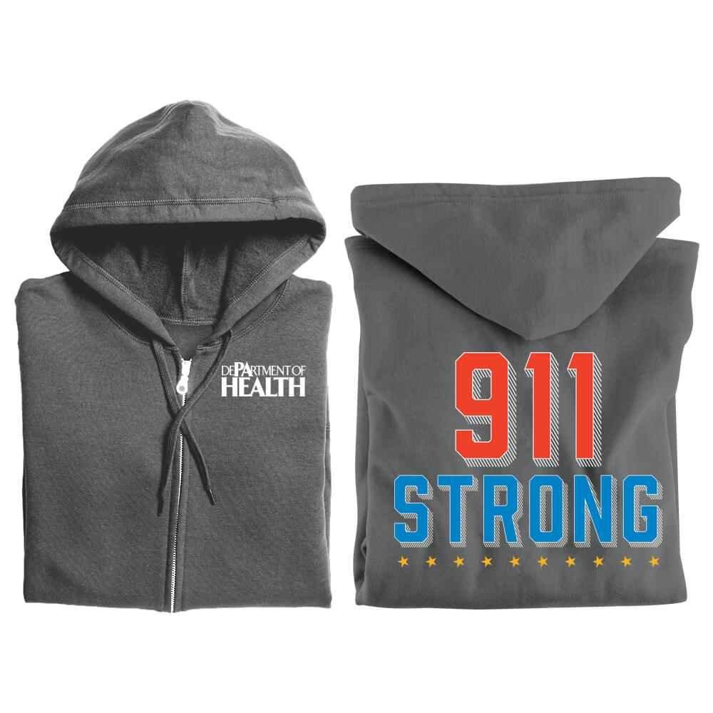 911 Strong Gildan® Full-Zip Hooded Sweatshirt - Personalized