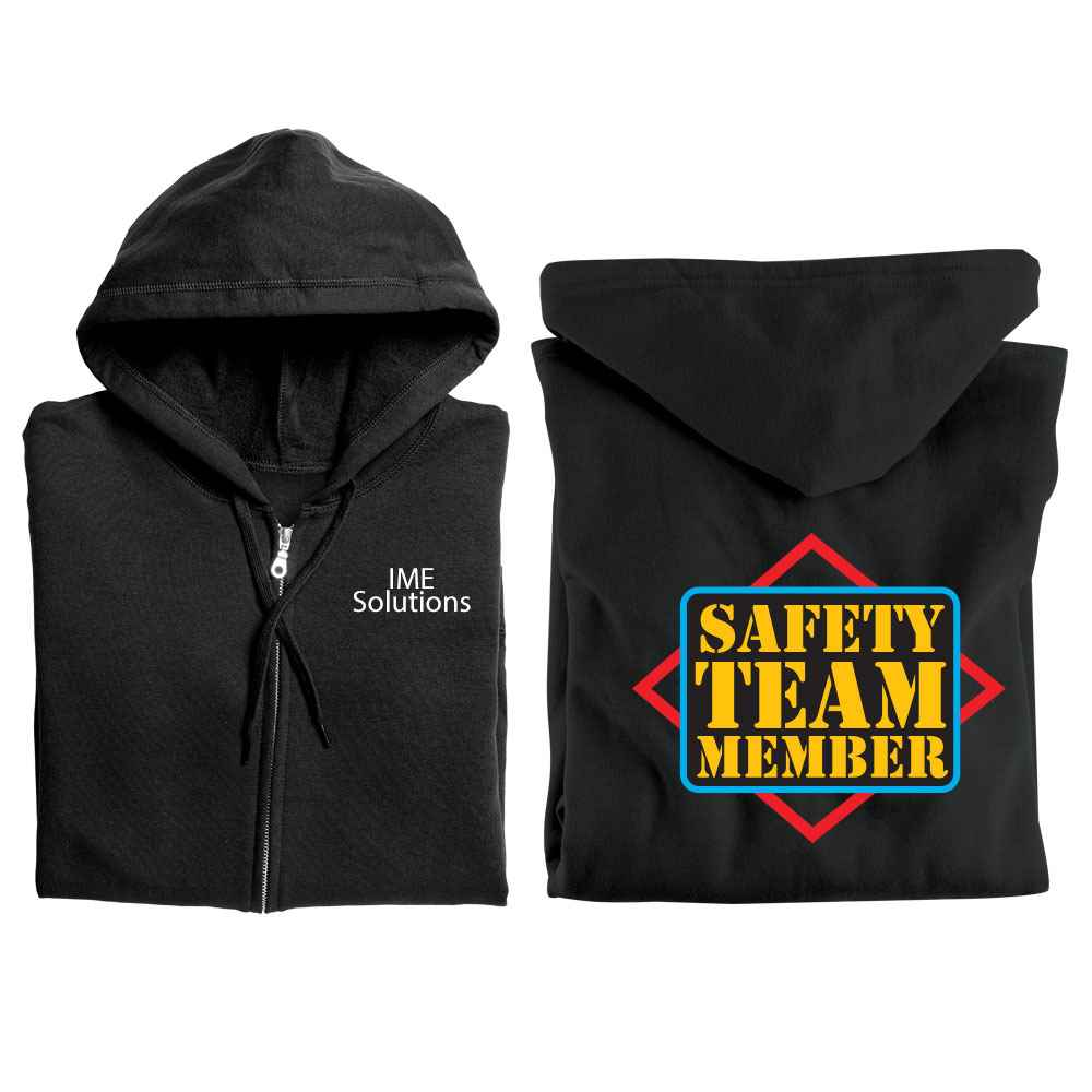 Safety Team Member Gildan® Full-Zip Hooded Sweatshirt with Personalization
