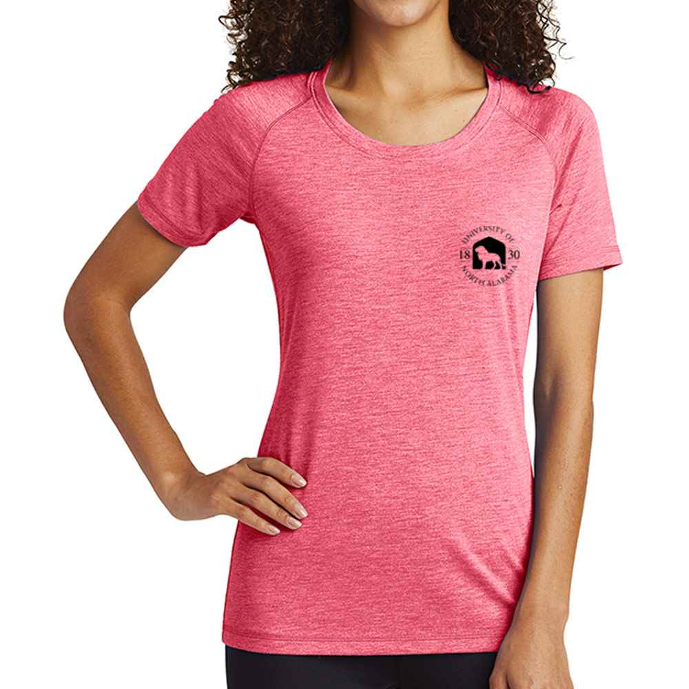 Sport-Tek® Ladies PosiCharge® Tri-Blend Wicking Scoop Neck Raglan T-Shirt - Personalization Available
