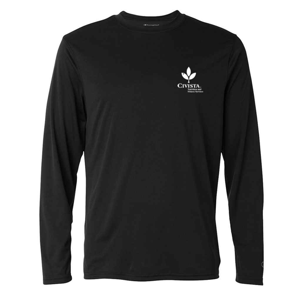 Champion® Double Dry® Performance Long Sleeve T-Shirt - Silkscreened Personalization Available