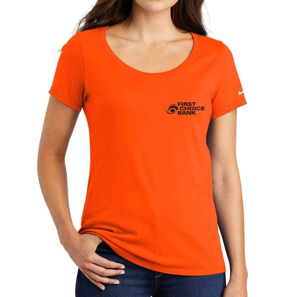 Nike® Women's Scoopneck Core Cotton T-Shirt - Personalization Available