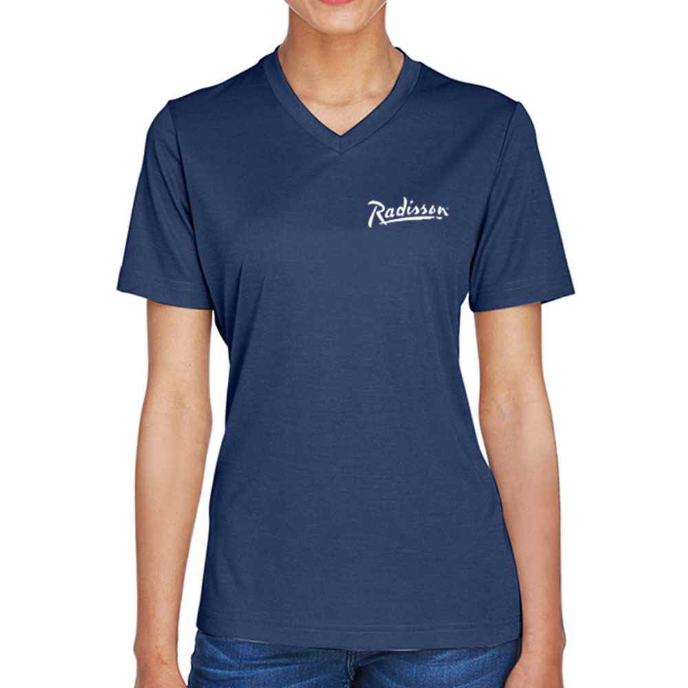 Team 365® Women's V-Neck Sonic Heather Performance T-Shirt - Personalization Available