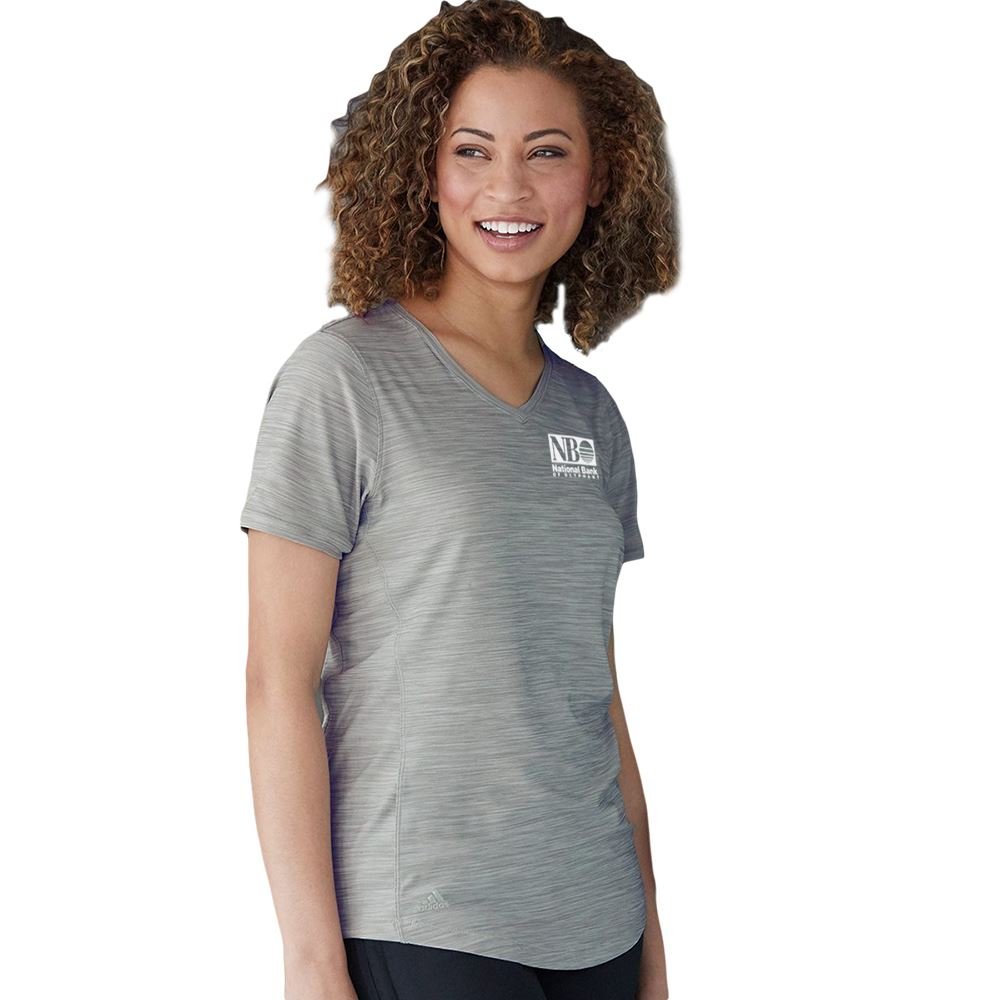 Adidas® Women's V-Neck Tech T-Shirt - Personalization Available
