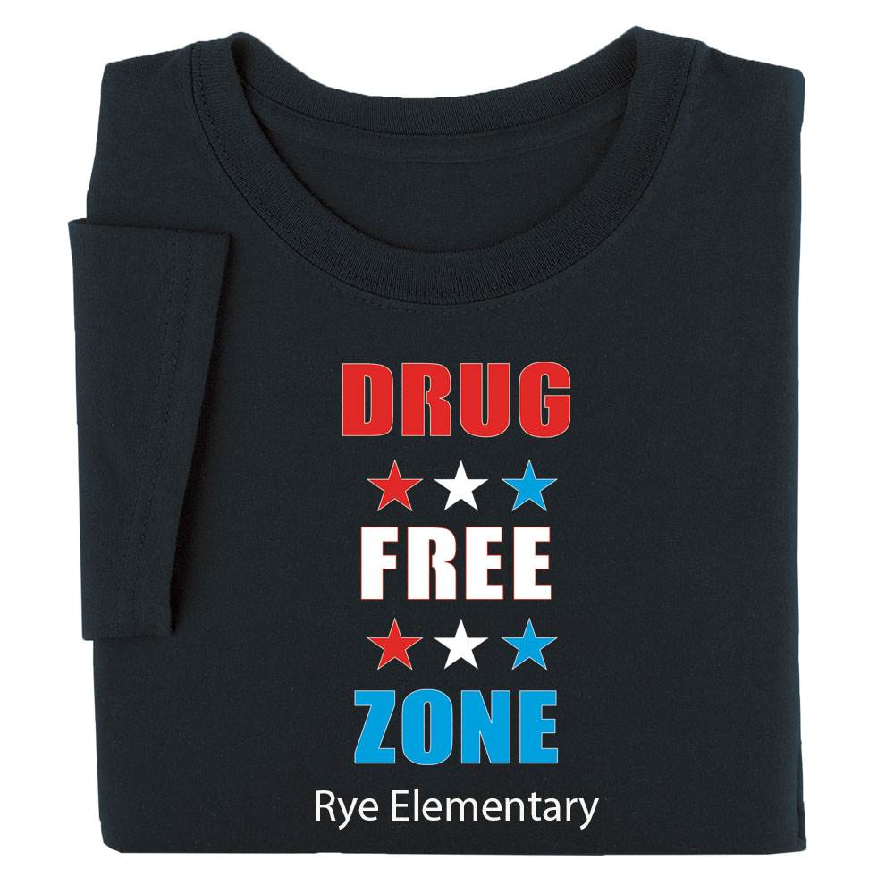 Drug Free Zone Youth Positive T-Shirt - Personalized