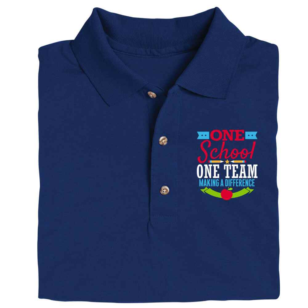 One School, One Team: Making A Difference Gildan® DryBlend Jersey Polo - Screenprinted Personalization Available