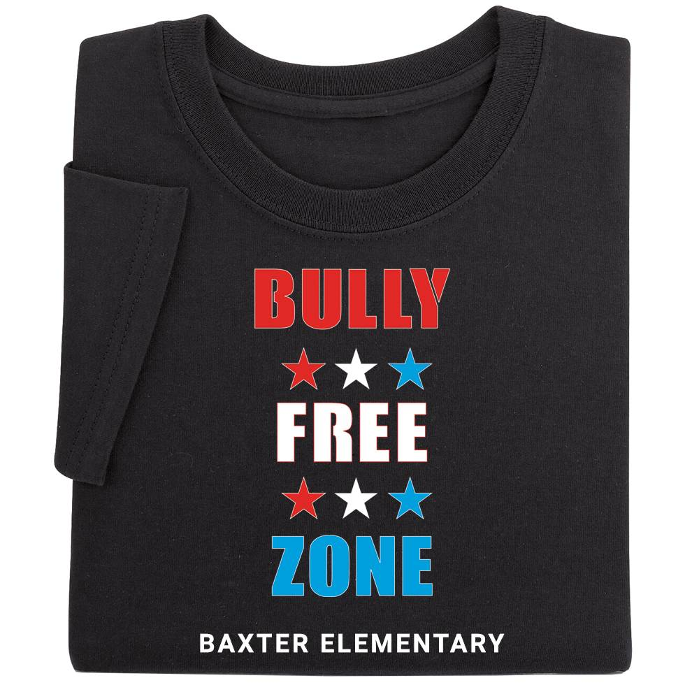 Bully Free Zone Youth Positive T-Shirt - Personalized