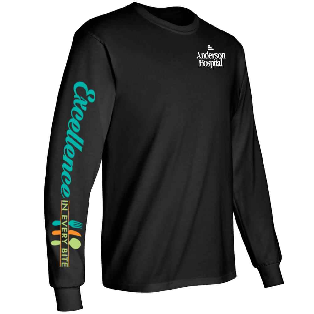 Excellence In Every Bite Long-Sleeve 2-Location Recognition T-Shirt - Personalized