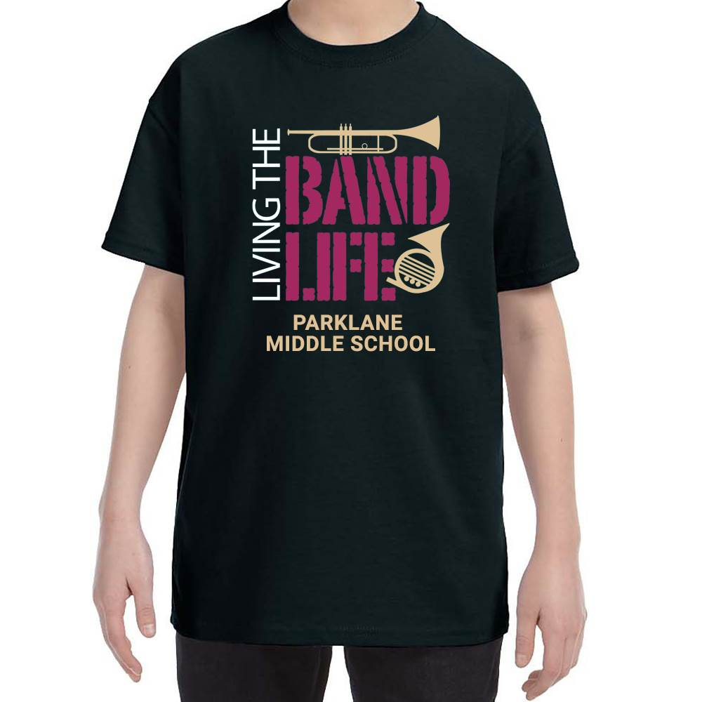 School Band Gildan® Heavy Cotton Youth T-Shirt - 4-Color Logo with Personalization