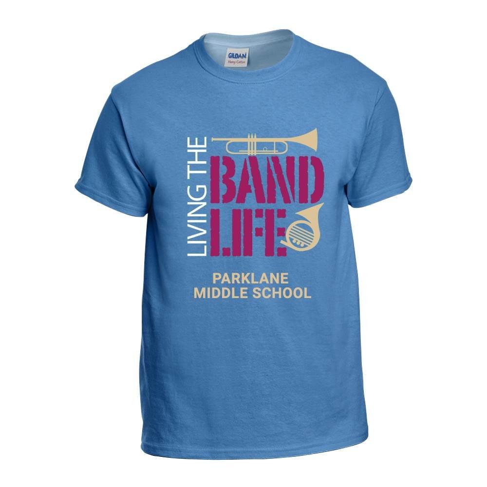 School Band Gildan® Heavy Cotton Adult Unisex T-Shirt - 4-Color Logo with Personalization