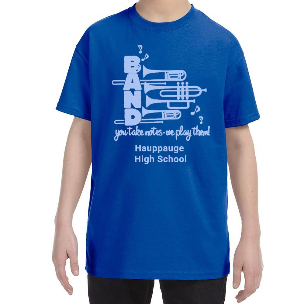 School Band Gildan® Heavy Cotton Youth T-Shirt - 1-Color Logo with Personalization