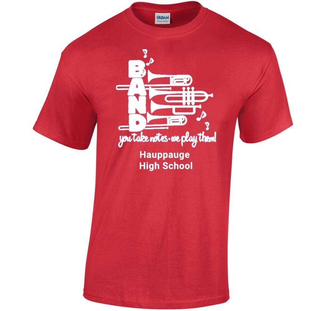 School Band Gildan® Heavy Cotton Adult/Unisex T-Shirt - 1-Color Logo with Personalization