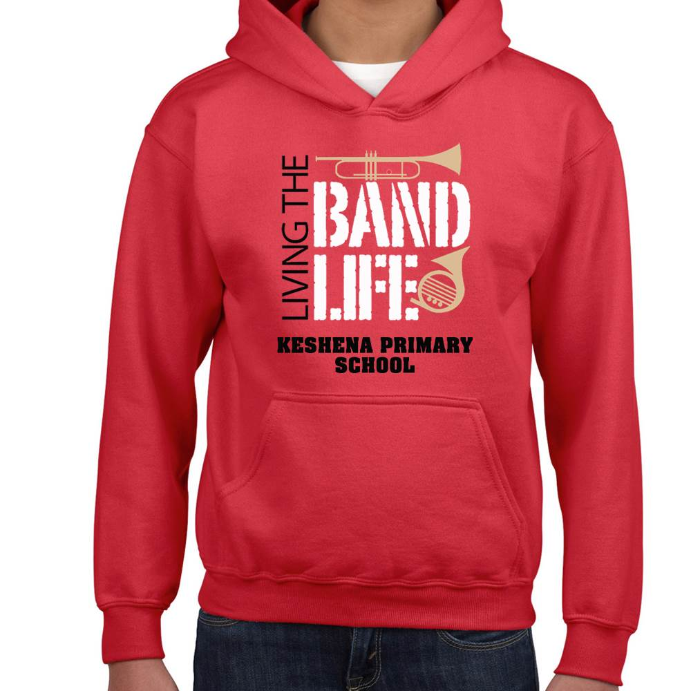 School Band Gildan® Heavy Blend™ Youth Hooded Sweatshirt - 4-Color Logo with Personalization
