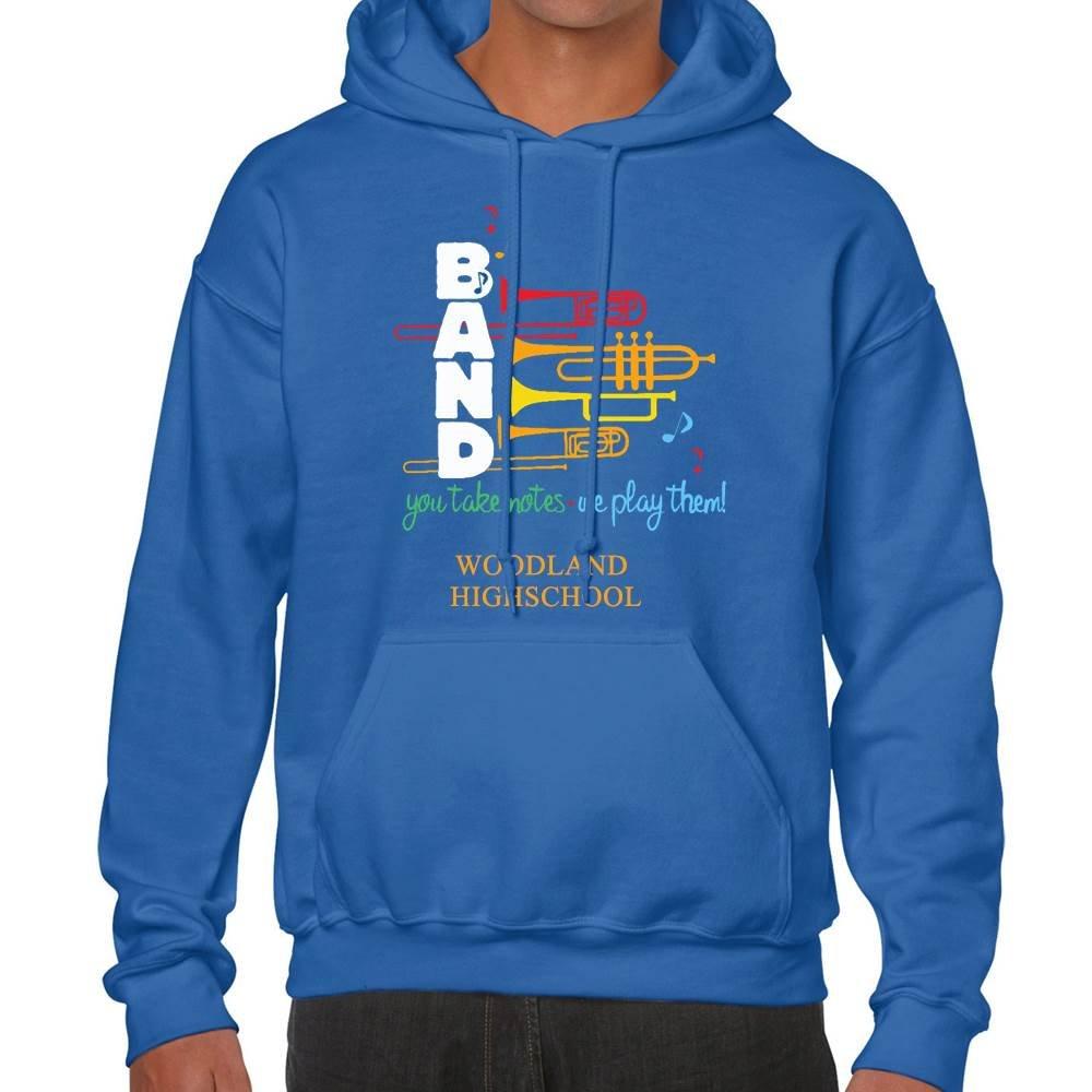 School Band Gildan® Heavy Blend™ Adult Hooded Sweatshirt - 4-Color Logo with Personalization