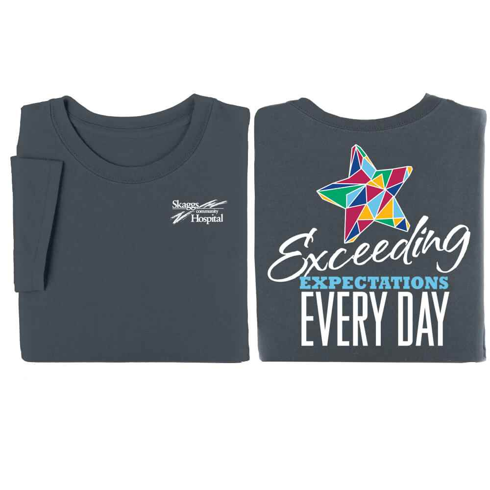 Exceeding Expectations Every Day Positive Two-Sided Short Sleeve T-Shirt - Personalized