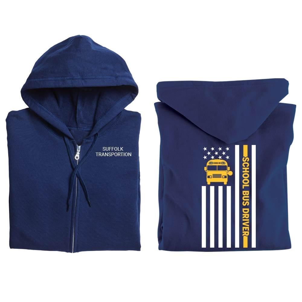 School Bus Driver Gildan® Full-Zip Hooded Sweatshirt - Personalized