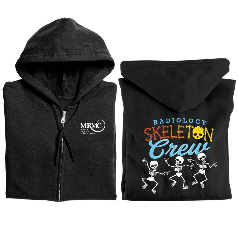 Radiology Skeleton Crew Gildan® Full-Zip Hooded Sweatshirt - Personalized