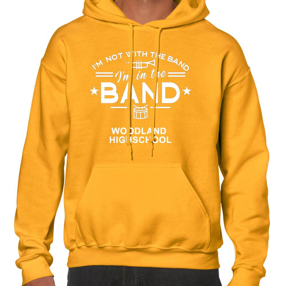 School Band Gildan® Heavy Blend™ Adult Hooded Sweatshirt - 1-Color Logo with Personalization
