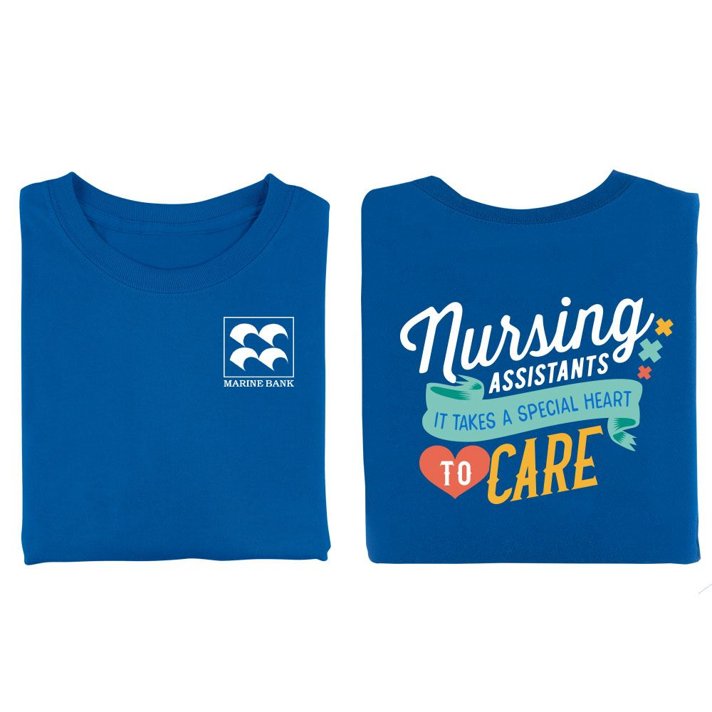 Nursing Assistants It Takes A Special Heart To Care Two-Sided Short-Sleeve T-Shirt - Personalization Available