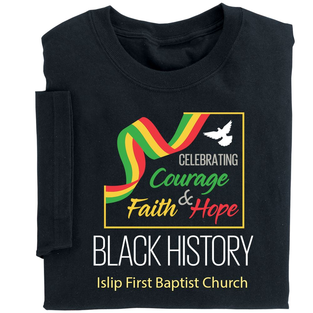 Black History: Celebrating Courage, Faith & Hope Youth T-Shirt With Personalization