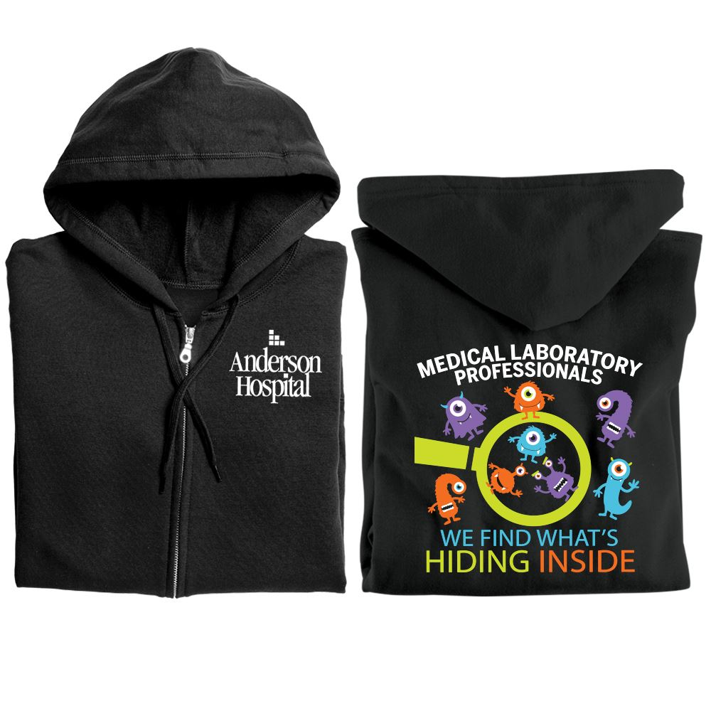 Medical Laboratory Professionals: We Find What's Hiding Inside Gildan® Full-Zip Hooded Sweatshirt