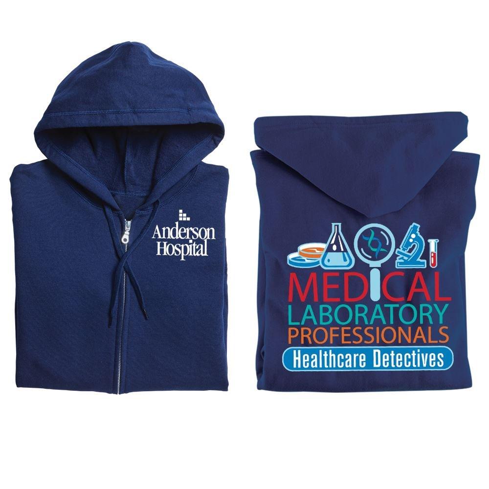 Medical Laboratory Professionals: Healthcare Detectives Gildan® Full-Zip Hooded Sweatshirt