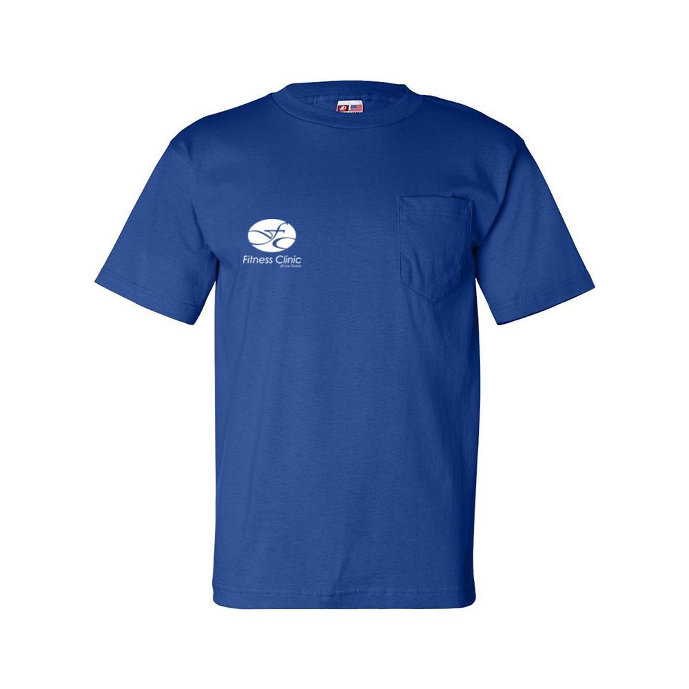Bayside - USA-Made Short Sleeve T-Shirt with a Pocket - Personalization Available