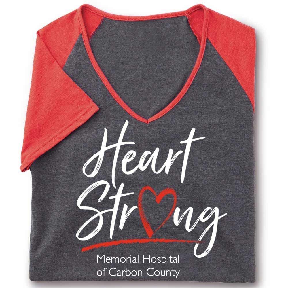 Heart Strong Tri-Blend V-Neck Raglan T-Shirt - Personalization Optional