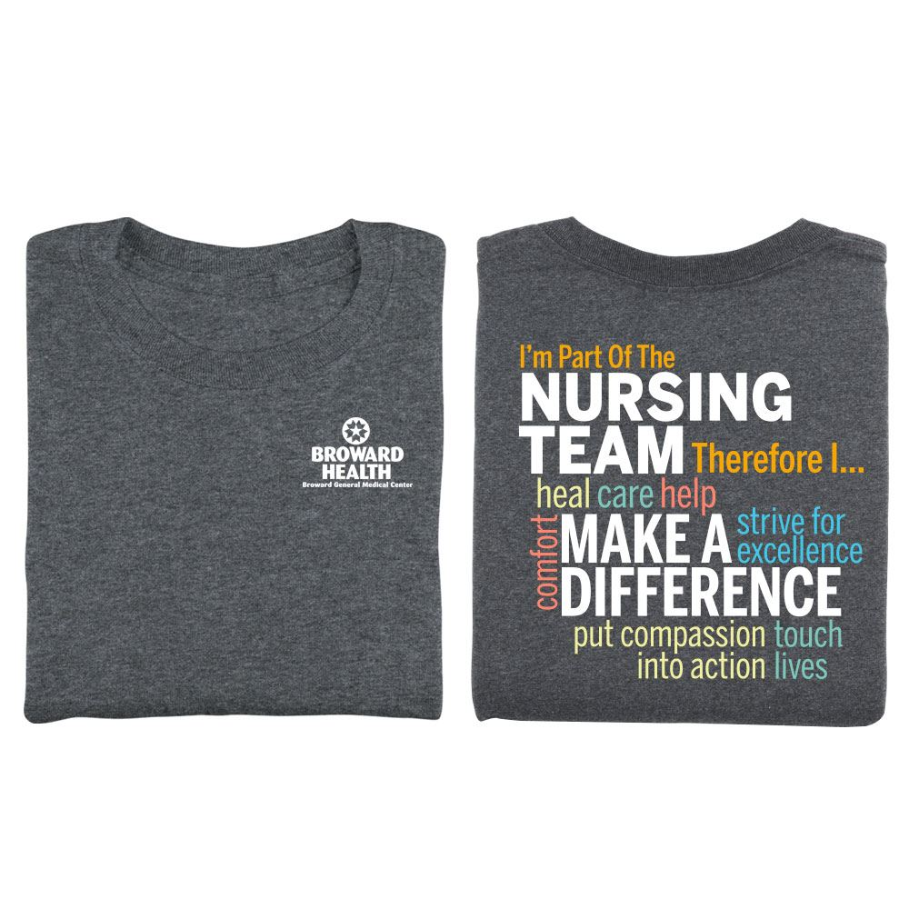 I'm Part Of The Nursing Team Therefore I... Two-Sided Short-Sleeve T-Shirt - Personalization Available