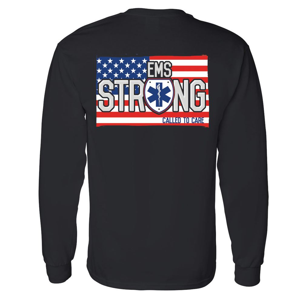 EMS Strong: Called To Care Two-Sided Long Sleeve T-Shirt - Personalization Available