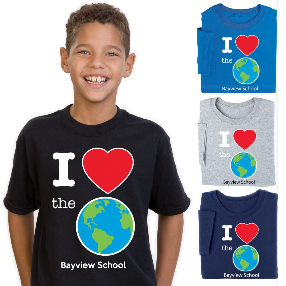 Earth Day Youth Full-Color T-Shirts - Personalization Available