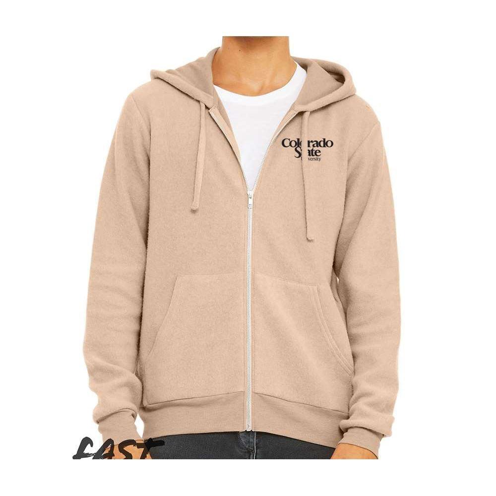 Bella + Canvas® Unisex Sueded Fleece Full Zip Hoodie - Personalization Available