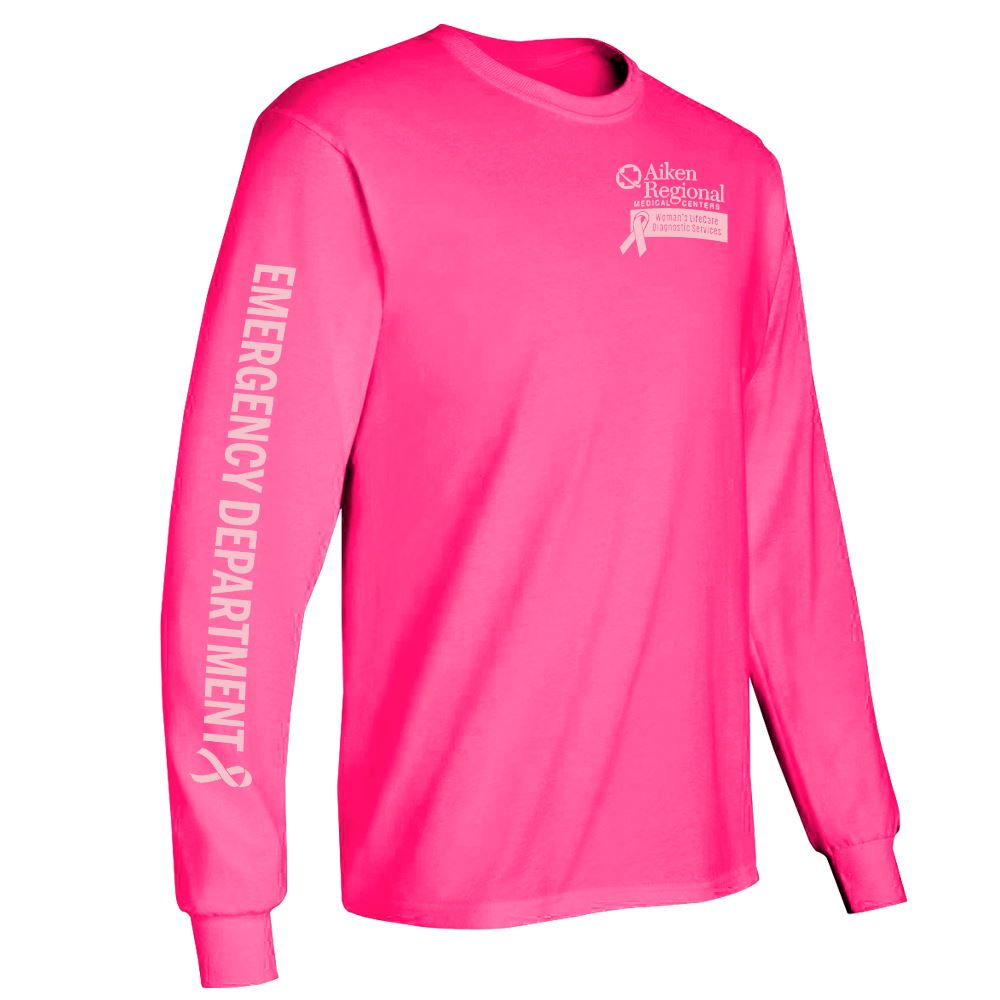 Emergency Department Long-Sleeve 2-Location Awareness T-Shirt - Personalization Available
