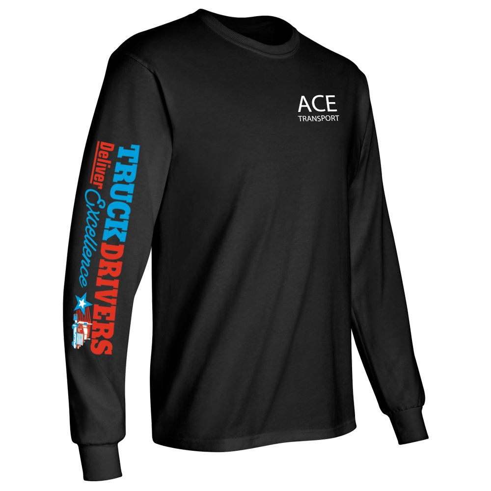 Truck Drivers Deliver Excellence Long Sleeve Recognition T-Shirt - Personalized