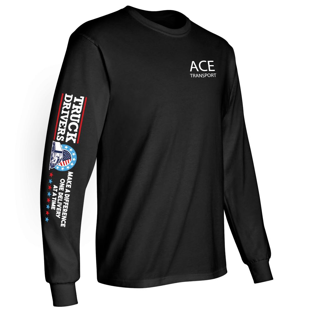Truck Drivers Make A Difference One Delivery At A Time Long Sleeve Recognition T-Shirt - Personalized
