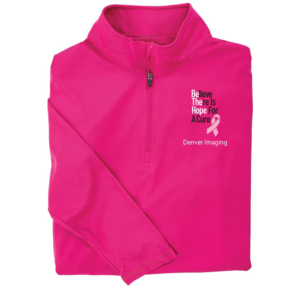 Believe There Is Hope For A Cure Women's Performance Quarter-Zip Pullover - Personalization Available