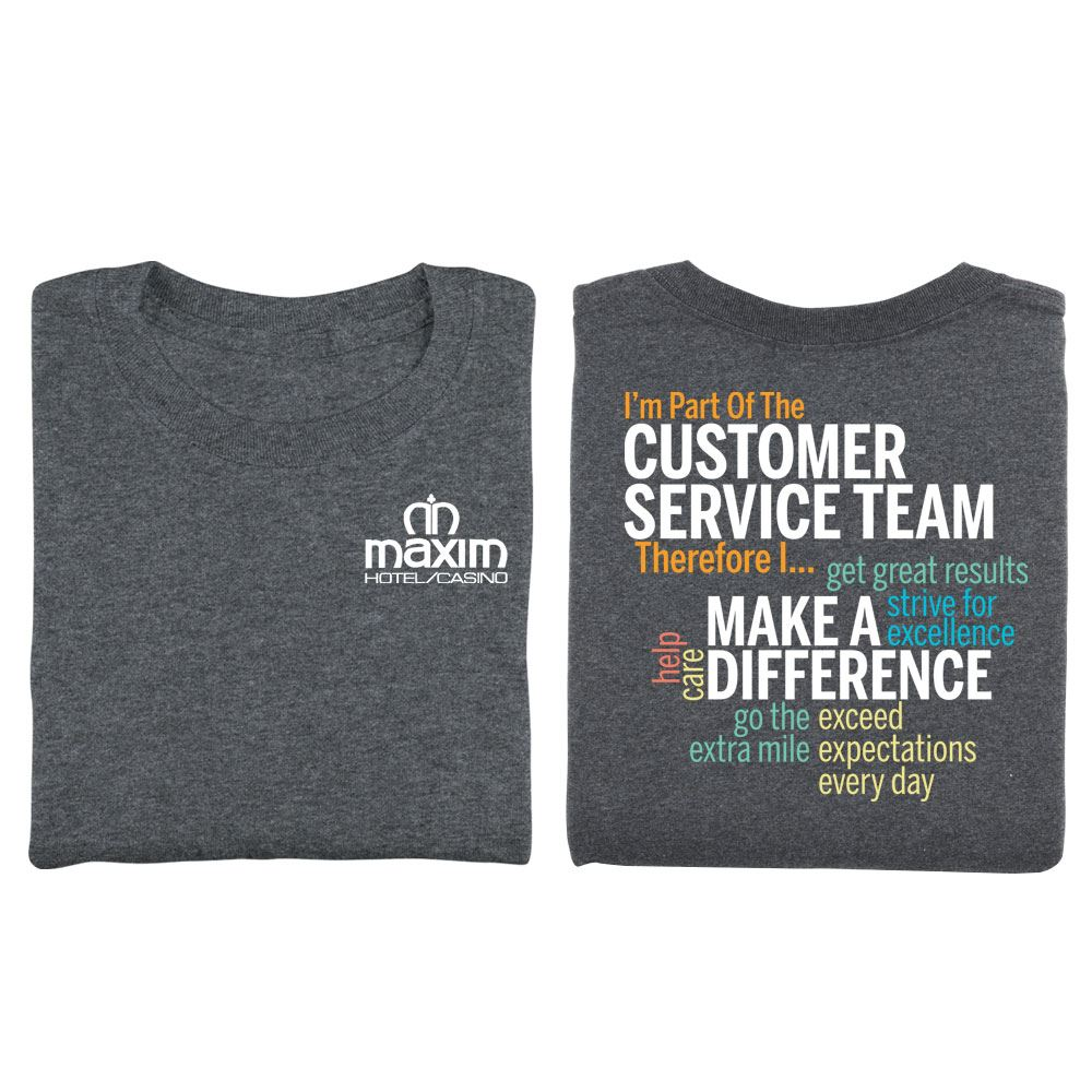 I'm Part Of The Customer Service Team Word Cloud Two-Sided T-Shirt - Personalization Available