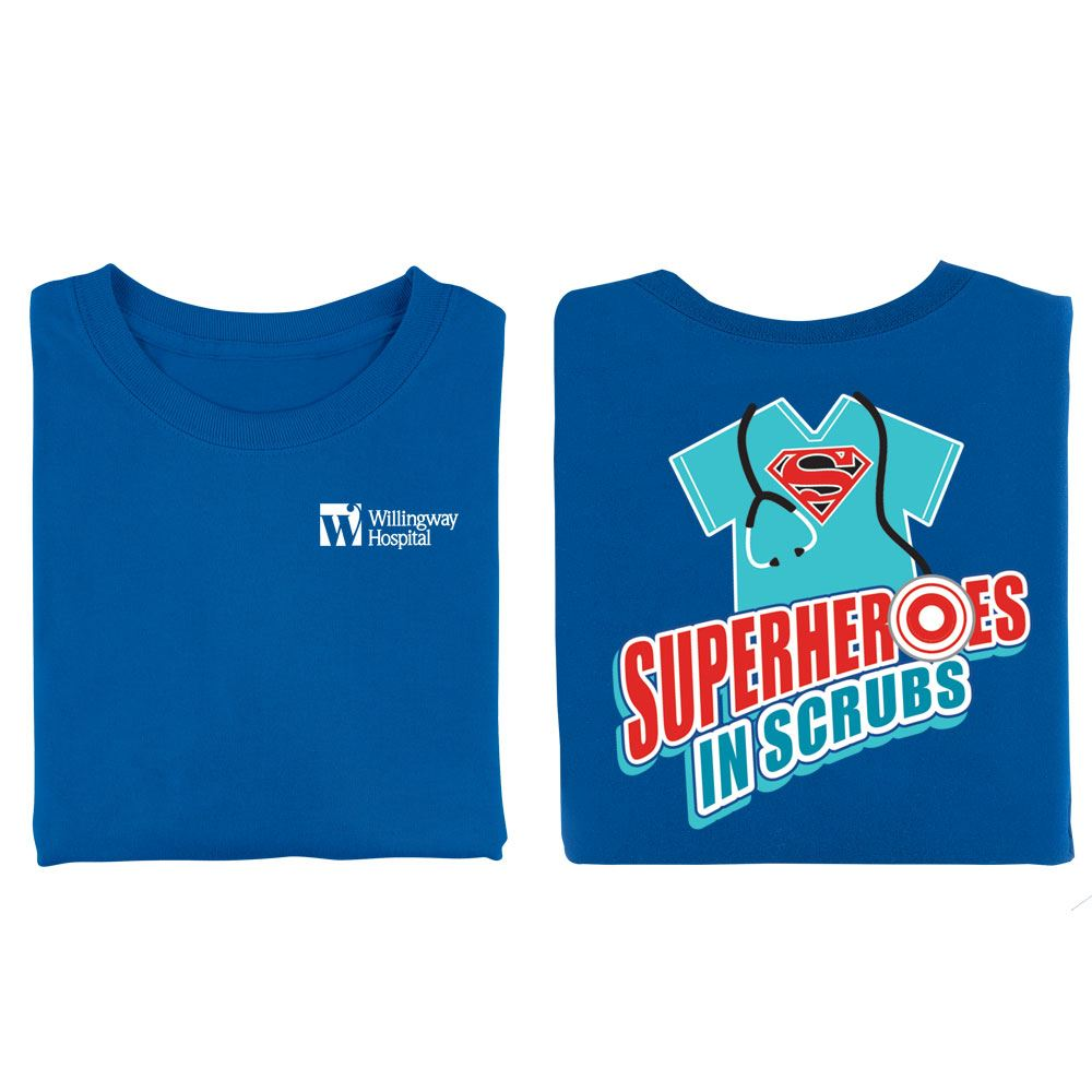 Superheroes In Scrubs Positive 2-Sided T-Shirt - Personalization Available