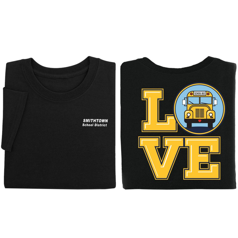 Love Bus Positive Short Sleeve T-Shirt - Personalized