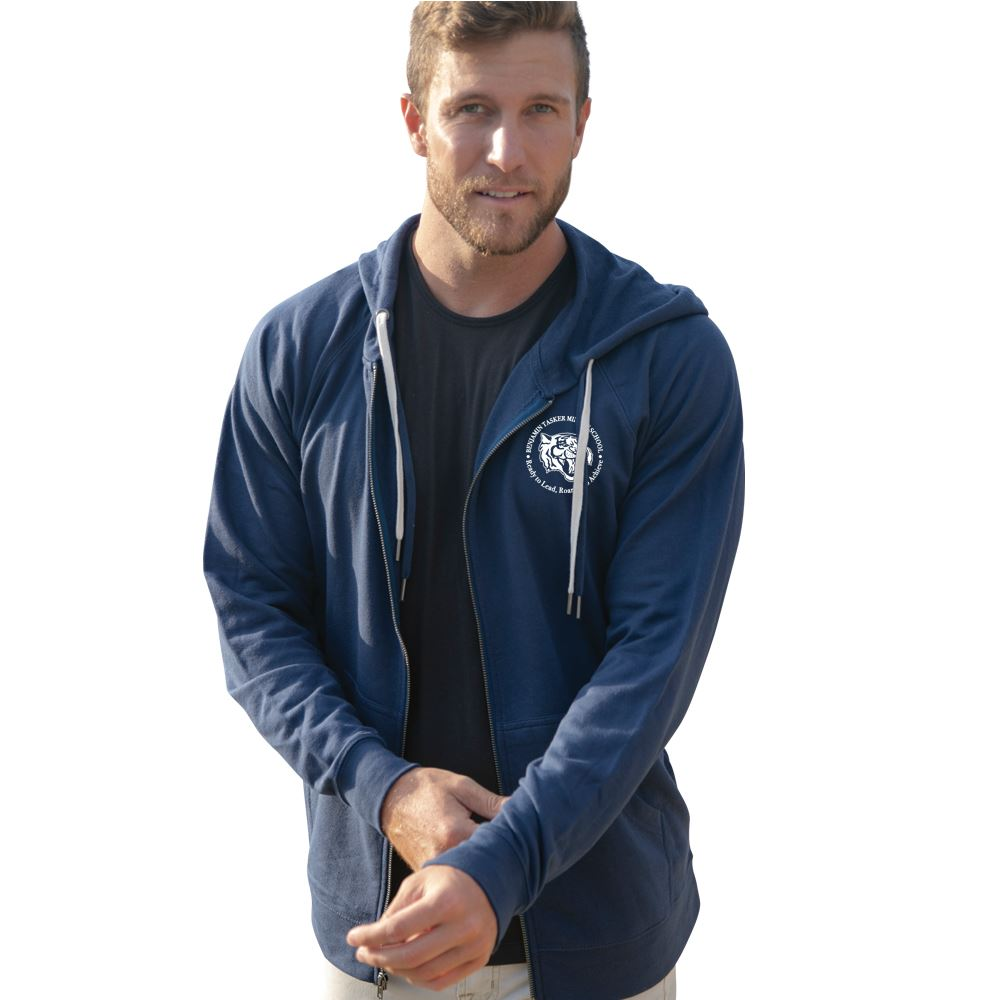 Independent Trading Co.� Unisex Lightweight Loopback Terry Zip Hooded Sweatshirt - Screenprint Personalization Available