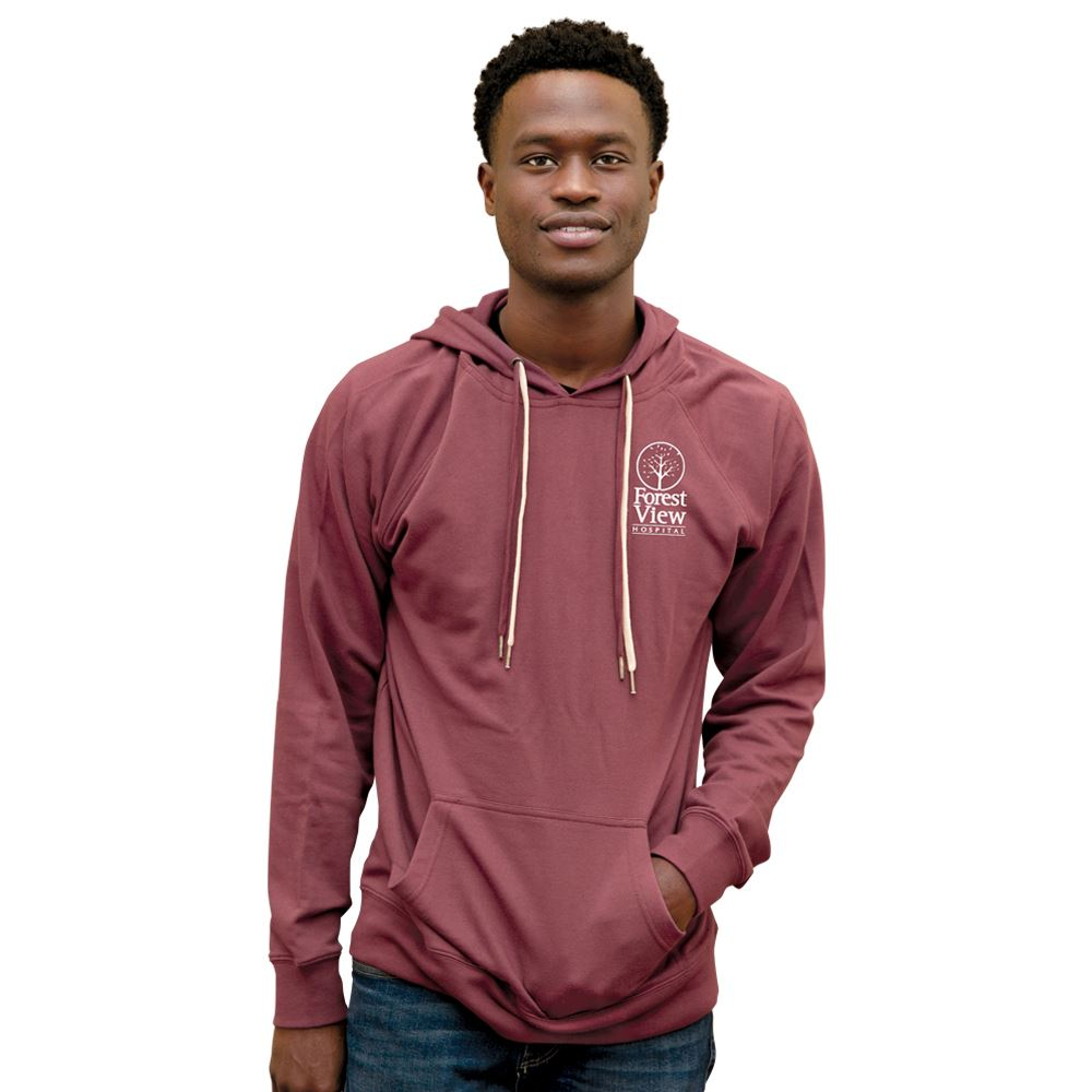Independent Trading Co® Unisex Lightweight Loopback Terry Hoodie - Screenprint Personalization Available
