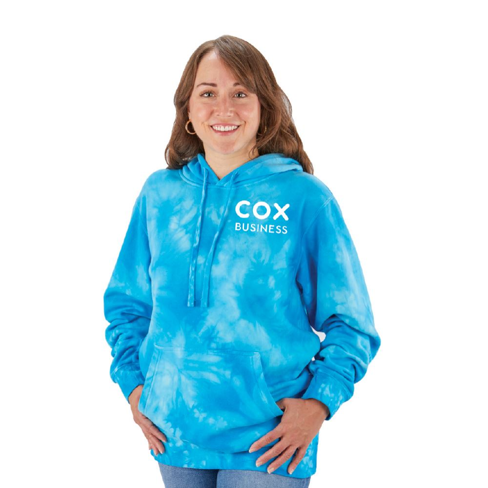 Independent Trading Co® Unisex Midweight Tie-Dye Hooded Pullover - Silkscreened Personalization Available