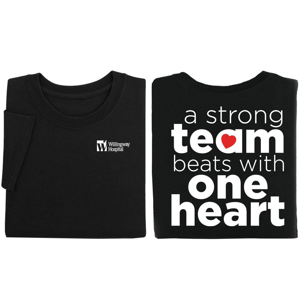 A Strong Team Beats With One Heart Personalized Positive 2-Sided T-Shirt
