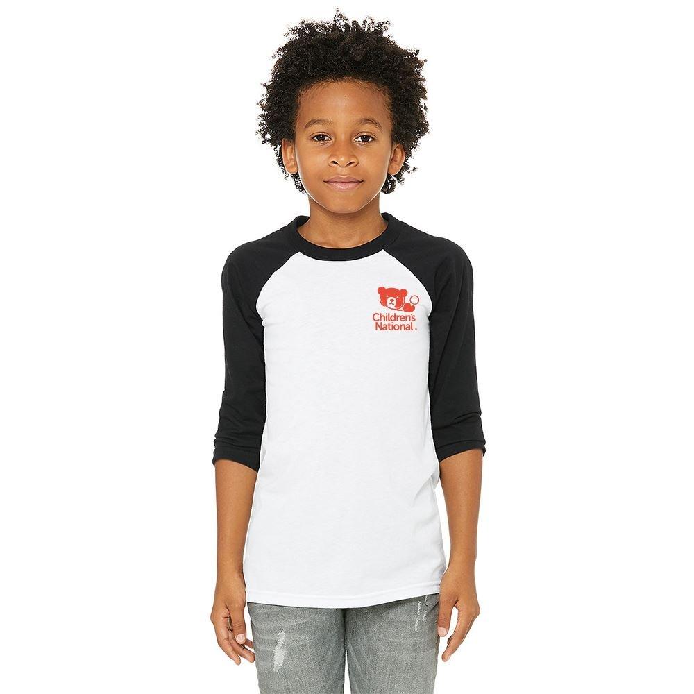 Bella Canvas Youth 3/4 Sleeve Baseball T-Shirt - Personalization Available