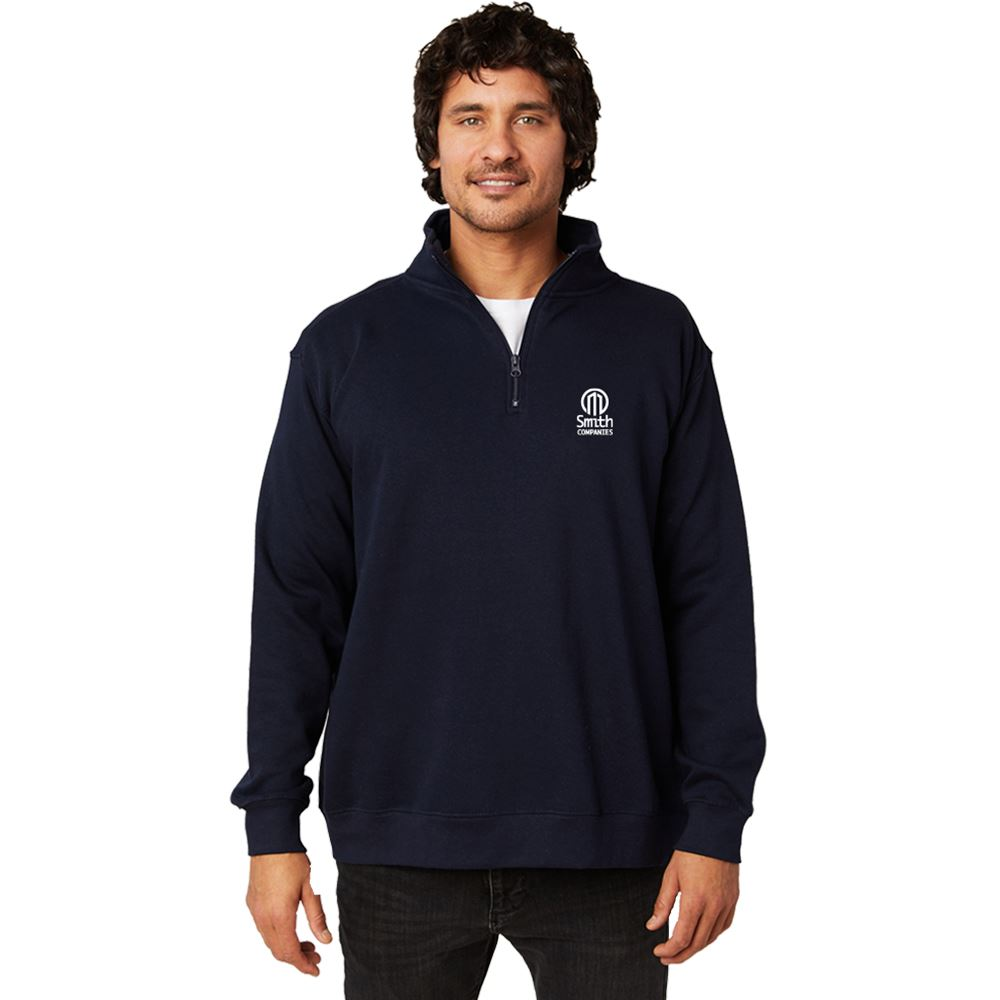 Positive Wear Unisex Essential Quarter-Zip Pullover - Silkscreened Personalization Available