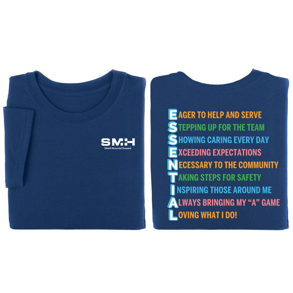 Essential Acrostic Positive 2-Sided T-Shirt - Personalization Available