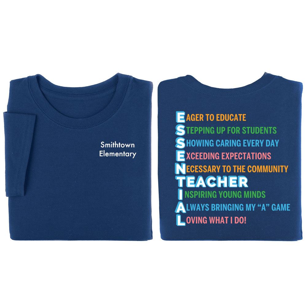 Essential Two-Sided T-Shirt  -  Personalization Available